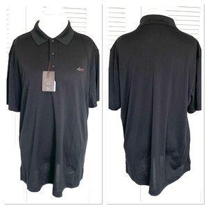 NWT Greg Norman Men's Black Polo Golf Shirt